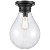 Innovations Lighting 414-1F-BK-10SDY-LED Genesis LED 10 inch Matte Black Flush Mount Ceiling Light