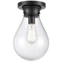 Innovations Lighting 414-1F-BK-8SDY-LED Genesis LED 8 inch Matte Black Flush Mount Ceiling Light