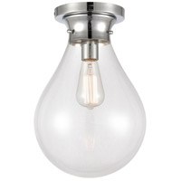 Innovations Lighting 414-1F-PC-10CL Genesis 1 Light 10 inch Polished Chrome Flush Mount Ceiling Light