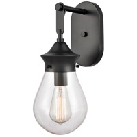 Innovations Lighting 414-1W-BK-6CL Genesis 1 Light 6 inch Matte Black Bath Vanity Light Wall Light