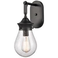 Innovations Lighting 414-1W-BK-6SDY Genesis 1 Light 6 inch Matte Black Bath Vanity Light Wall Light