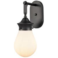 Innovations Lighting 414-1W-BK-6W Genesis 1 Light 6 inch Matte Black Bath Vanity Light Wall Light