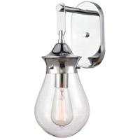 Innovations Lighting 414-1W-PC-6CL Genesis 1 Light 6 inch Polished Chrome Bath Vanity Light Wall Light