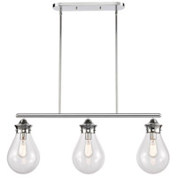 Innovations Lighting 414-3I-PC-8CL Genesis 3 Light 39 inch Polished Chrome Island Light Ceiling Light