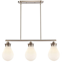Innovations Lighting 414-3I-SN-8W-LED Genesis LED 39 inch Satin Nickel Island Light Ceiling Light