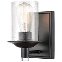 Innovations Lighting 417-1W-BK-SDY Manhattan 1 Light 5 inch Matte Black Bath Vanity Light Wall Light