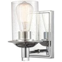 Innovations Lighting 417-1W-PC-SDY Manhattan 1 Light 5 inch Polished Chrome Bath Vanity Light Wall Light