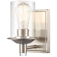 Innovations Lighting 417-1W-SN-SDY Manhattan 1 Light 5 inch Satin Nickel Bath Vanity Light Wall Light