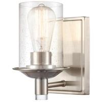 Innovations Lighting 417-1W-SN-SDY Manhattan 1 Light 5 inch Satin Nickel Bath Vanity Light Wall Light