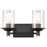 Innovations Lighting 417-2W-BK-SDY Manhattan 2 Light 15 inch Matte Black Bath Vanity Light Wall Light