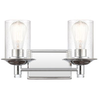 Innovations Lighting 417-2W-PC-SDY Manhattan 2 Light 15 inch Polished Chrome Bath Vanity Light Wall Light