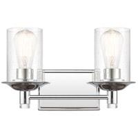 Innovations Lighting 417-2W-PC-SDY-LED Manhattan LED 15 inch Polished Chrome Bath Vanity Light Wall Light