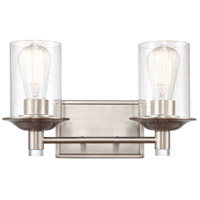 Innovations Lighting 417-2W-SN-SDY Manhattan 2 Light 15 inch Satin Nickel Bath Vanity Light Wall Light