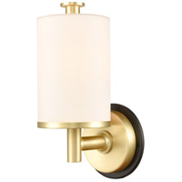 Innovations Lighting 418-1W-BSB-W-LED Marlowe LED 5 inch Black Satin Brass Bath Vanity Light Wall Light