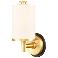 Innovations Lighting 418-1W-BSG-W-LED Marlowe LED 5 inch Black Satin Gold Bath Vanity Light Wall Light