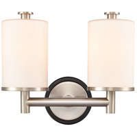 Innovations Lighting 418-2W-BSN-W-LED Marlowe LED 14 inch Black Satin Nickel Bath Vanity Light Wall Light
