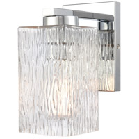 Innovations Lighting 419-1W-PC-CL Juneau 1 Light 5 inch Polished Chrome Bath Vanity Light Wall Light