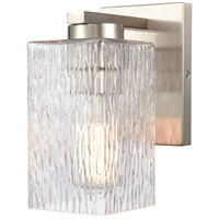Innovations Lighting 419-1W-SN-CL Juneau 1 Light 5 inch Satin Nickel Bath Vanity Light Wall Light
