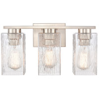 Innovations Lighting 419-3W-SN-CL-LED Juneau LED 17 inch Satin Nickel Bath Vanity Light Wall Light