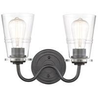Innovations Lighting 421-2W-BK-CL Scarlett 2 Light 14 inch Matte Black Bath Vanity Light Wall Light
