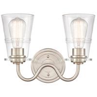 Innovations Lighting 421-2W-SN-CL Scarlett 2 Light 14 inch Satin Nickel Bath Vanity Light Wall Light