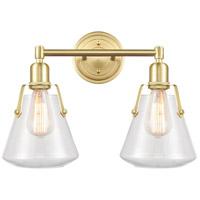 Innovations Lighting 422-2W-SB-7CL Luna 2 Light 18 inch Satin Brass Bath Vanity Light Wall Light