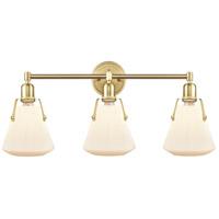 Innovations Lighting 422-3W-SB-7W Luna 3 Light 29 inch Satin Brass Bath Vanity Light Wall Light