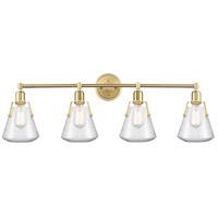 Innovations Lighting 422-4W-SB-7SDY Luna 4 Light 40 inch Satin Brass Bath Vanity Light Wall Light
