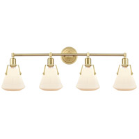 Innovations Lighting 422-4W-SB-7W Luna 4 Light 40 inch Satin Brass Bath Vanity Light Wall Light