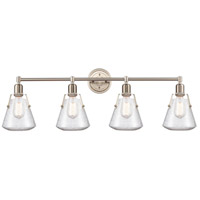 Satin Brass Luna Bathroom Vanity Lights