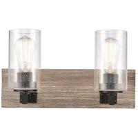 Innovations Lighting 424-2W-BK-SDY-LED Diego LED 17 inch Matte Black Bath Vanity Light Wall Light