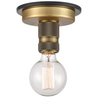 Innovations Lighting 431-1F-BBB-LED Aurora LED 2 inch Black Brushed Brass Flush Mount Ceiling Light Restoration