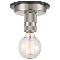 Innovations Lighting 431-1F-BSN Aurora 1 Light 2 inch Brushed Satin Nickel Flush Mount Ceiling Light Restoration