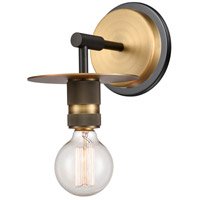 Innovations Lighting 431-1W-BBB-LED Aurora LED 6 inch Black Brushed Brass Sconce Wall Light Restoration
