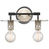 Innovations Lighting 431-2W-BSN-LED Aurora LED 14 inch Brushed Satin Nickel Bath Vanity Light Wall Light Restoration