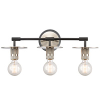 Innovations Lighting 431-3W-BSN-LED Aurora LED 22 inch Brushed Satin Nickel Bath Vanity Light Wall Light Restoration