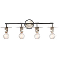 Innovations Lighting 431-4W-BSN-LED Aurora LED 30 inch Brushed Satin Nickel Bath Vanity Light Wall Light Restoration