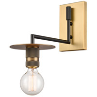 Innovations Lighting 432-1W-BBB Aurora 1 Light 6 inch Black Brushed Brass Sconce Wall Light Restoration
