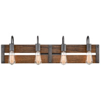 Innovations Lighting 435-4W-AG Austin 4 Light 33 inch Aged Gun Metal Bath Vanity Light Wall Light