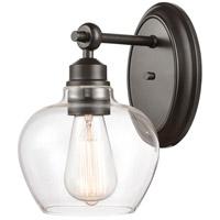 Innovations Lighting 438-1W-BK-CL-LED Amina LED 7 inch Matte Black Bath Vanity Light Wall Light