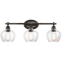Innovations Lighting 438-3W-BK-CL-LED Amina LED 27 inch Matte Black Bath Vanity Light Wall Light