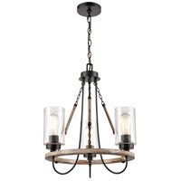 Innovations Lighting Matte Black Wood Chandeliers
