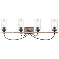 Innovations Lighting 442-4W-BK-SDY-LED Paladin LED 35 inch Matte Black Bath Vanity Light Wall Light