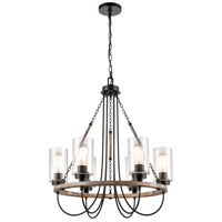 Innovations Lighting 442-6CR-BK-SDY-LED Paladin LED 25 inch Matte Black Chandelier Ceiling Light