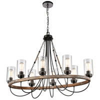 Innovations Lighting 442-8CR-BK-SDY-LED Paladin LED 39 inch Matte Black Chandelier Ceiling Light