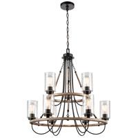 Innovations Lighting 442-9CR-BK-SDY-LED Paladin LED 32 inch Matte Black Chandelier Ceiling Light