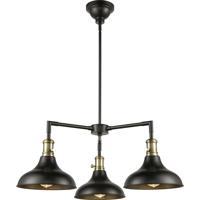Innovations Lighting 443SW-3CR-BAB-M15BK Metro 3 Light 30 inch Black Antique Brass Chandelier Ceiling Light