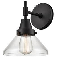Innovations Lighting 447-1W-BK-CL Caden 1 Light 8 inch Matte Black Sconce Wall Light