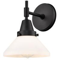Innovations Lighting 447-1W-BK-W Caden 1 Light 8 inch Matte Black Sconce Wall Light