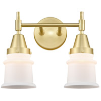 Innovations Lighting 447-2W-SB-G181S Caden 2 Light 14 inch Satin Brass Bath Vanity Light Wall Light